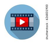 video icon. flat vector icon... | Shutterstock .eps vector #626831900
