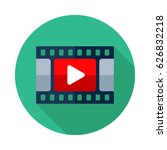 video icon. flat vector icon... | Shutterstock .eps vector #626832218