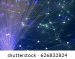 fiber optic and glow network | Shutterstock . vector #626832824