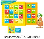 visual game for children. task ... | Shutterstock .eps vector #626833040