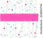 valentines heart frame | Shutterstock .eps vector #626834744