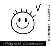 stylized smiling face....