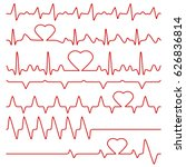 Cardiogram And Pulse Vector...