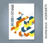 abstract minimal geometric... | Shutterstock .eps vector #626836874