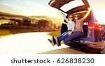 summer car trip  | Shutterstock . vector #626838230