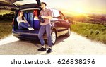 summer car trip  | Shutterstock . vector #626838296
