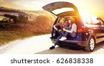 summer car trip  | Shutterstock . vector #626838338
