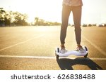 young man riding on the... | Shutterstock . vector #626838488
