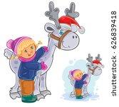 vector winter christmas  new... | Shutterstock .eps vector #626839418