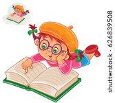 vector illustration of little... | Shutterstock .eps vector #626839508