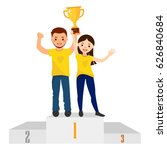 awards ceremony. woman and man... | Shutterstock .eps vector #626840684