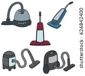 vector set of vacuum cleaner | Shutterstock .eps vector #626842400
