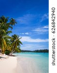paradise tropical beach and... | Shutterstock . vector #626842940