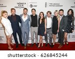 Small photo of NEW YORK-APR 22: The cast of 'Literally, Right Before Aaron' attends the screening at SVA Theatre during the 2017 TriBeCa Film Festival on April 22, 2017 in New York City.