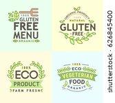 gluten free icon  vector gluten ... | Shutterstock .eps vector #626845400