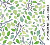 watercolor seamless pattern... | Shutterstock . vector #626845586