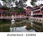 Shanghai Temple - stock photo