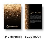 glimmer background with bokeh... | Shutterstock . vector #626848094
