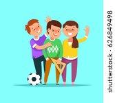 vector illustration group happy ... | Shutterstock .eps vector #626849498