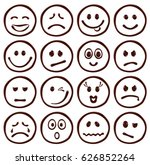 set of chocolate smiley faces... | Shutterstock .eps vector #626852264