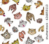 cartoon cats and kittens  dog...   Shutterstock .eps vector #626853113