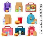 kids bags vector and school... | Shutterstock .eps vector #626855309