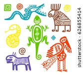 vector african or mexican... | Shutterstock .eps vector #626855414