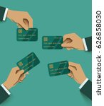 hands holding credit card in...   Shutterstock .eps vector #626858030