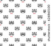 seamless pattern with cute... | Shutterstock .eps vector #626860100