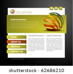 modern web page template   with ... | Shutterstock .eps vector #62686210
