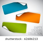 set of blank rectangle labels... | Shutterstock .eps vector #62686213