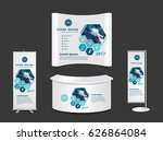 exhibition stand with another... | Shutterstock .eps vector #626864084
