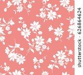 flower illustration pattern | Shutterstock .eps vector #626864624