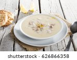 turkish traditional tripe soup... | Shutterstock . vector #626866358