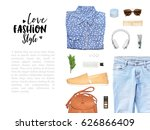 fashion blogger concept.... | Shutterstock . vector #626866409