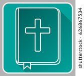 holy bible icon. vector. | Shutterstock .eps vector #626867534