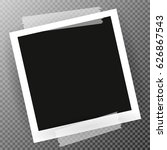 photo frame with shadow on... | Shutterstock .eps vector #626867543