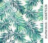 tropical pattern with exotic...   Shutterstock . vector #626870126