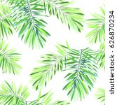 bright tropical background with ... | Shutterstock . vector #626870234