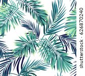 tropical background with jungle ... | Shutterstock . vector #626870240