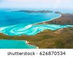 whitehaven beach  whitsundays   Shutterstock . vector #626870534