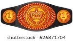 champion  boxing  belt vector... | Shutterstock .eps vector #626871704