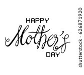 happy mother's day letter vector | Shutterstock .eps vector #626871920