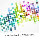 vector multicolor mosaic layout ...