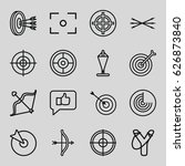 target icons set. set of 16... | Shutterstock .eps vector #626873840