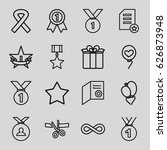 ribbon icons set. set of 16...
