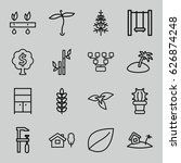 tree icons set. set of 16 tree... | Shutterstock .eps vector #626874248