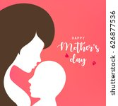 mother and baby vector... | Shutterstock .eps vector #626877536