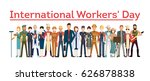 international worker's day.... | Shutterstock .eps vector #626878838