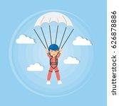 skydiving active sport. man in... | Shutterstock .eps vector #626878886